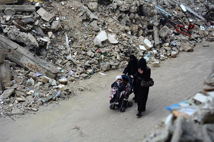 Women in besieged areas of Syria face the challenge of struggling each month with limited access to pads as well as clean water, leading to sometimes serious gynaecological complications (AFP Photo/Sameer Al-Doumy)