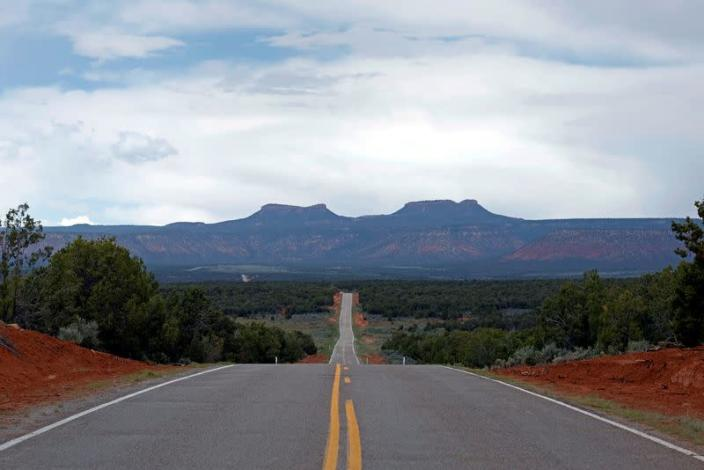 FILE PHOTO: Bears Ears, twin rock formations, are pictured in Utah's Four Corners region