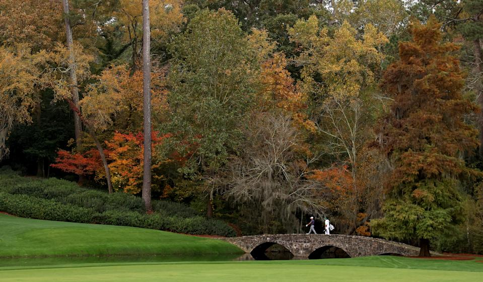 It's a different look for the Masters, but still a beautiful one. (Photo by Patrick Smith/Getty Images)