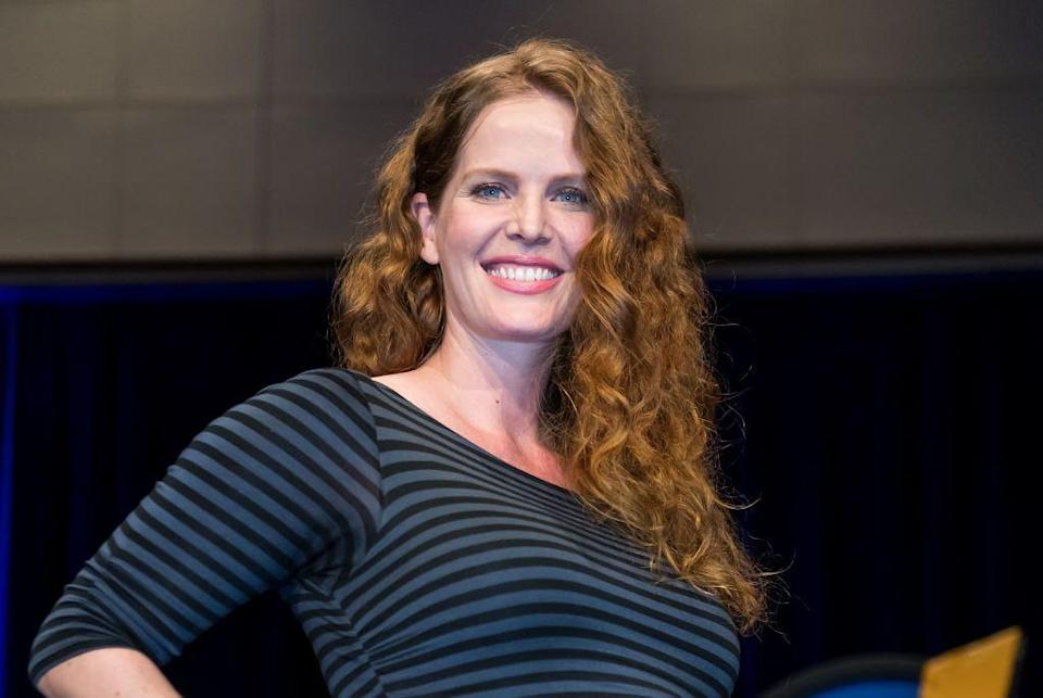 <p>If you don't now recognize Rebecca as Zelena (aka the Wicked Witch of the West from <em>Once Upon A Time</em>) then what have you even been doing?? She also played Dr. Charlotte Lewis on <em>Lost</em>, so that's an acceptable answer too.</p>