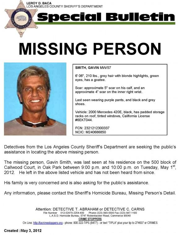 Search For Missing Fox Film Exec