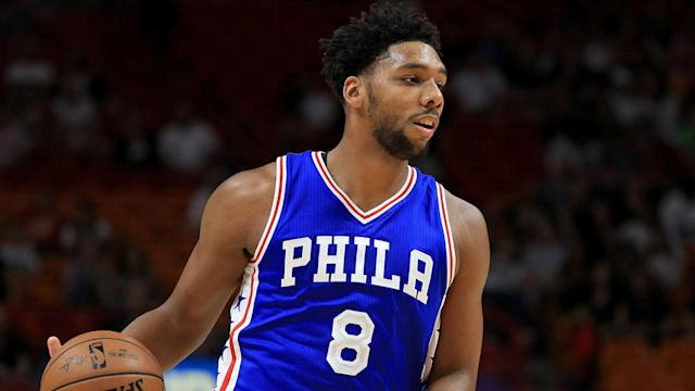 The Philadelphia 76ers sent Jahlil Okafor, guard Nik Stauskas and a second-round pick in return for power forward Trevor Booker.