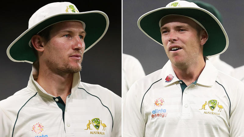 Cameron Bancroft (pictured left) and Marcus Harris (pictured right). (Getty Images)