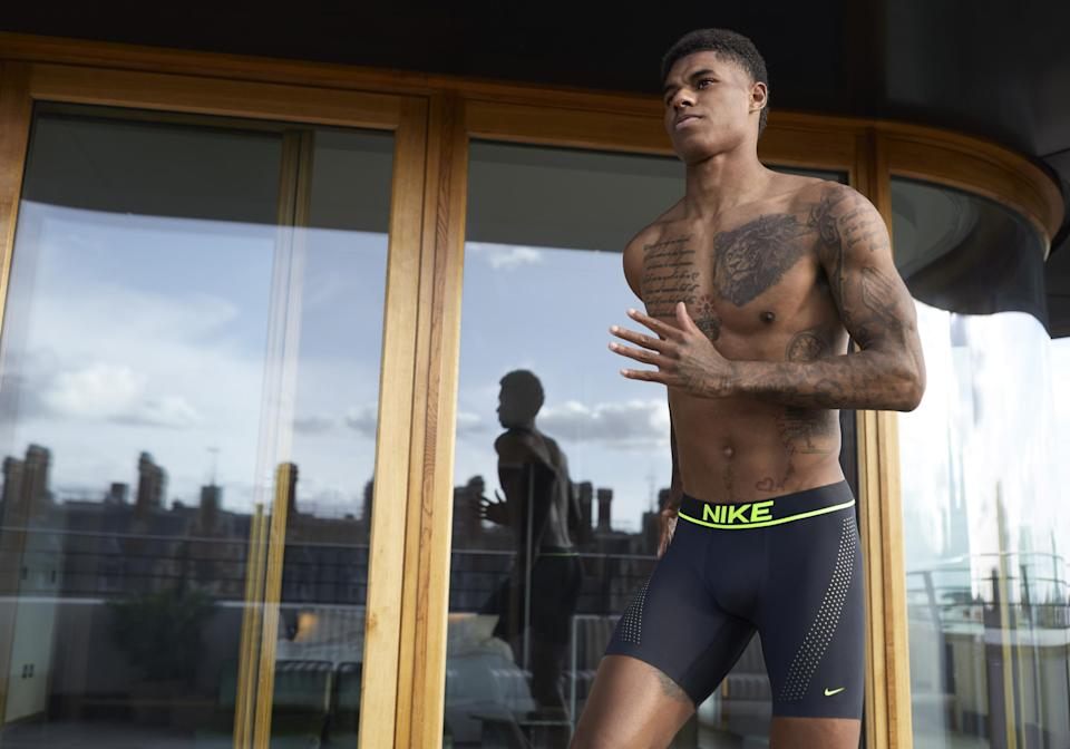 Rashford's first underwear campaign for NikeImage courtesy of Nike