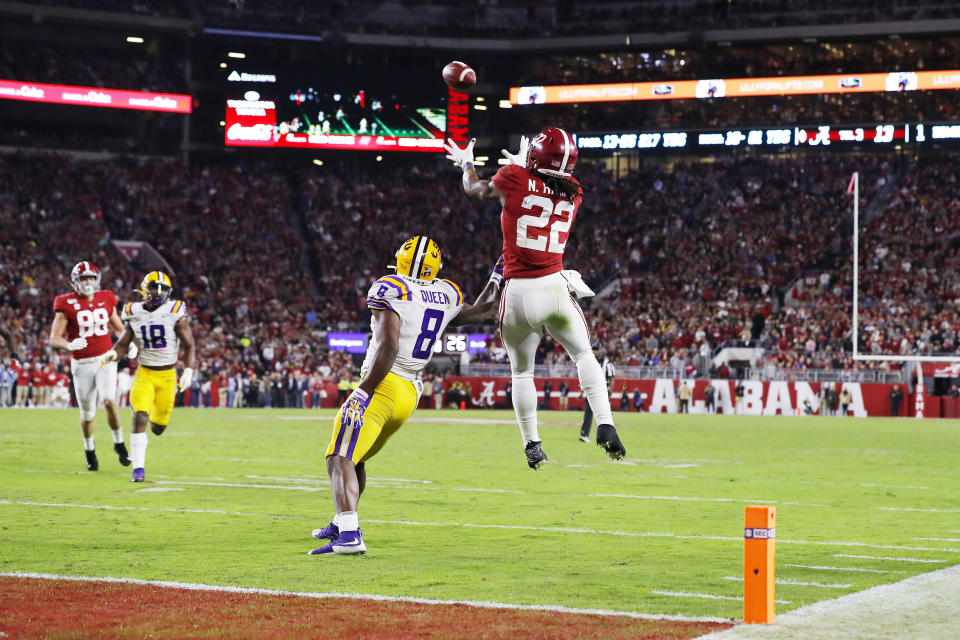 Alabama RB Najee Harris was a monster against LSU. (Photo by Kevin C. Cox/Getty Images)