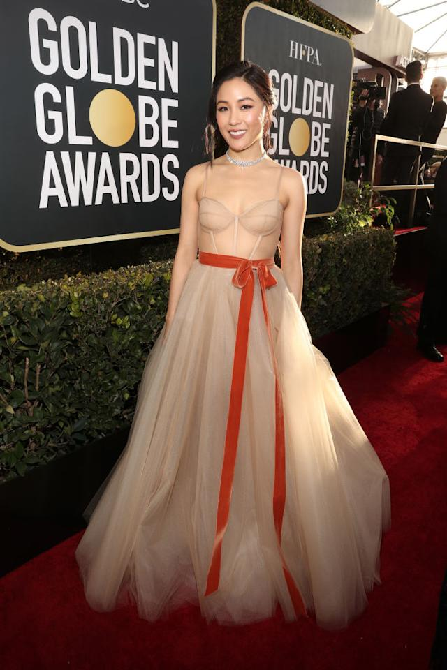 <em>Crazy Rich Asians</em> actress Constance Wu attends the 76th Annual Golden Globe Awards at the Beverly Hilton Hotel in Beverly Hills, Calif., on Jan. 6, 2019. (Photo: Getty Images)