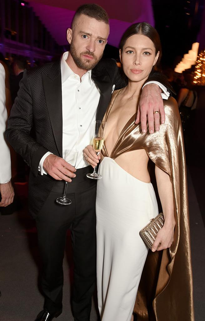 <p>Remember when these two wouldn't pose together? We barely can because — four years of marriage and one son later — they just love the camera these days. This shot, taken at the Vanity Fair party, was no different. (Photo: Dave M. Benett/VF17/WireImage) </p>