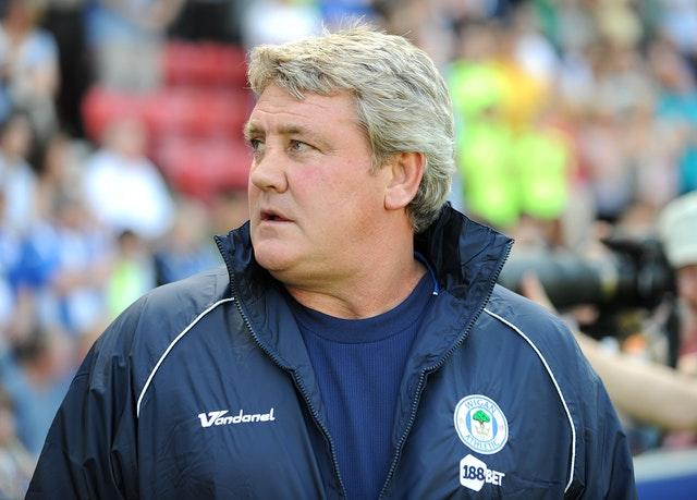 Steve Bruce pictured during his time at Wigan