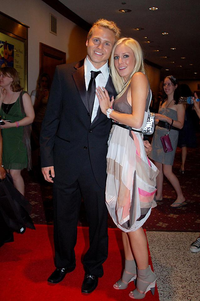 """Why in the world were Spencer Pratt and Heidi Montag invited to the prestigious D.C. event? Heidi also committed the ultimate fashion faux pas: wearing the same dress to back-to-back events. She donned the color block frock at a launch party for her new clothing line as well. Gene Young/<a href=""""http://www.splashnewsonline.com"""" target=""""new"""">Splash News</a> - April 26, 2008"""