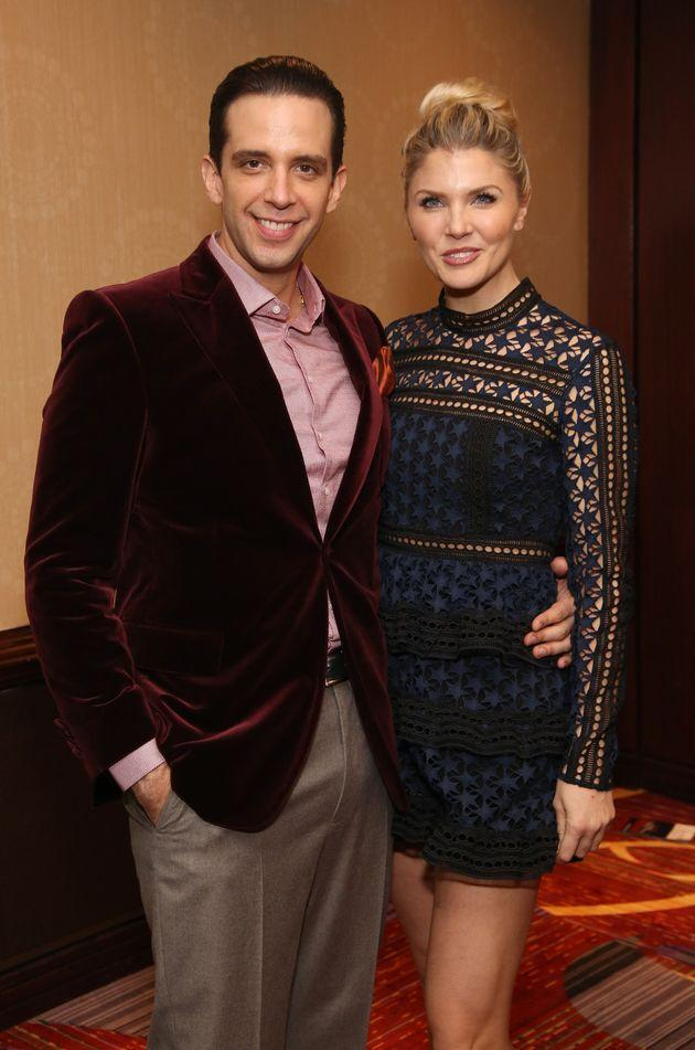Nick Cordero and Amanda Kloots at the Broadway opening night after-party for