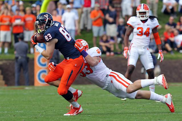 Former Virginia tight end Jake McGee transfers to Florida