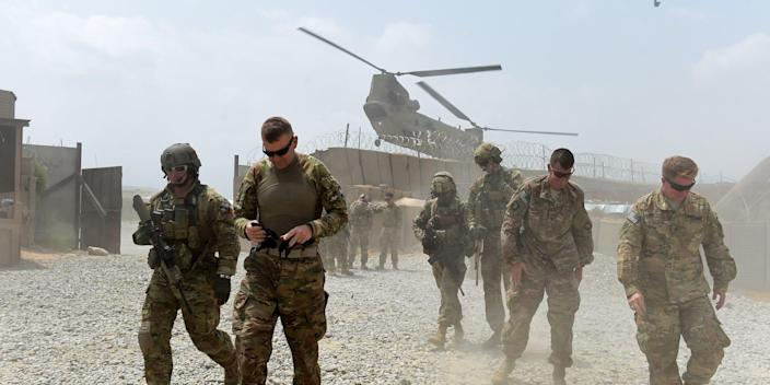 US soldiers Afghanistan stock image 2015