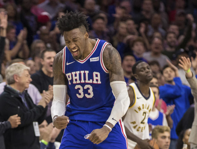 "<a class=""link rapid-noclick-resp"" href=""/nba/players/5253/"" data-ylk=""slk:Robert Covington"">Robert Covington</a> is in his fifth NBA season. (AP)"