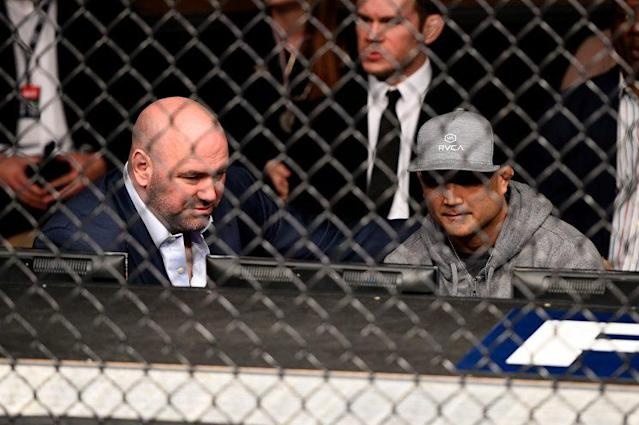 B.J. Penn, right, hasn't been inside the Octagon since 2014. (Getty Images)