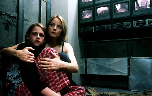 Stewart and Jodie Foster in <em>Panic Room</em>. (Photo: Merrick Morton/courtesy Everett Collection)