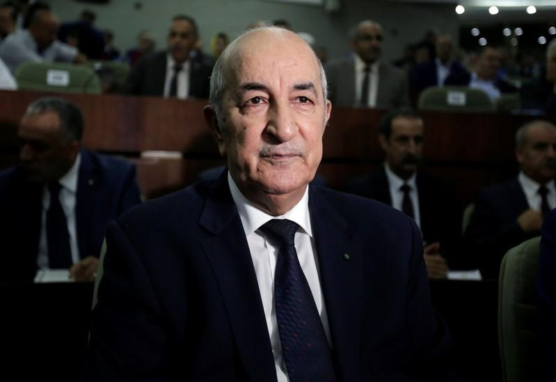 FILE PHOTO: Algerian Prime Minister, Abdelmadjid Tebboune, is pictured at the  National PeopleÕs Assembly in Algiers