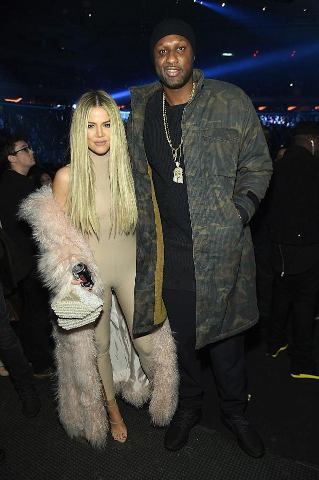 <p>After the NBA star's infidelity and substance abuse issues were made public, Kardashian filed for divorce in 2013. In 2015, the stars finalized their divorce, but a judge had yet to sign off on it before the <em>Keeping Up With the Kardashians</em> star reversed course months later. After Odom was placed in a coma and nearly lost his life due to an overdose, Khloé rushed to his bedside in Las Vegas and stopped proceedings. After she helped nurse her ex back to health, they eventually went through with ending their marriage officially in 2016. (Photo: Getty Images) </p>