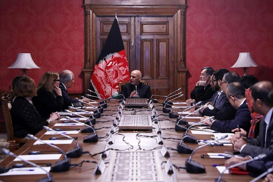The Taliban have steadfastly refused to negotiate with the Afghan government, whom they dismiss as 'puppets' (AFP Photo/Handout)