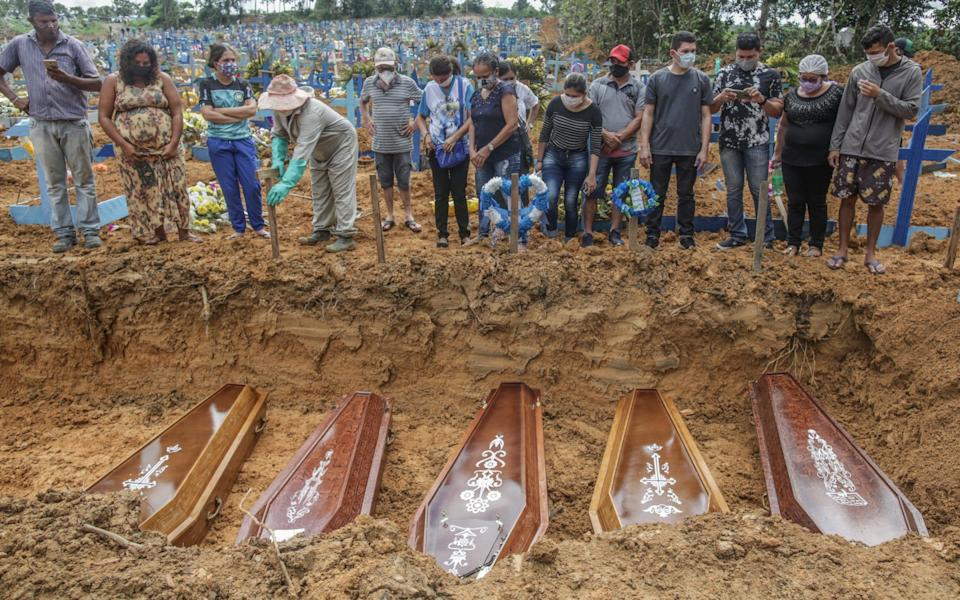 Brazil has the second-highest number of deaths in the world - GETTY IMAGES
