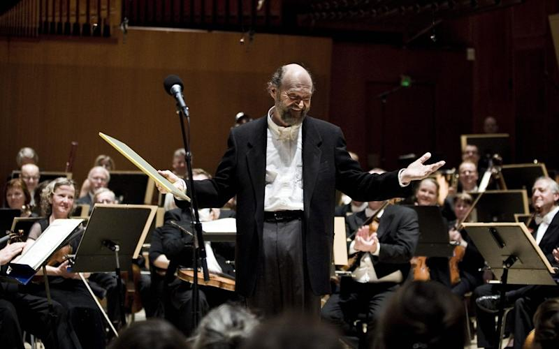 The Estonian composer Arvo Part in Copenhagen in 2008 - AFP