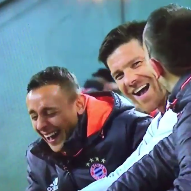 <span>The Bayern bench couldn't see what all the fuss was about</span>