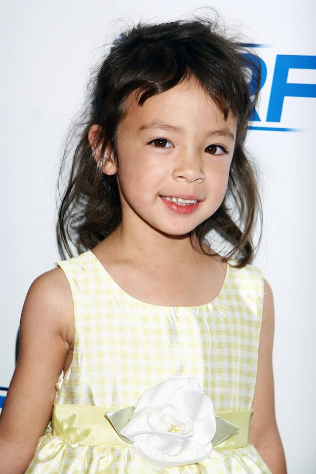 Aubrey Anderson-Emmons got her lucky break playing Lily because of fickle toddlers. It turned out that the twins who originally played Lily were burned out on acting, so she was called in to replace them. (Photo by Tommaso Boddi/WireImage)