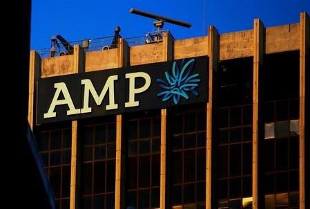 FILE PHOTO: The logo of AMP Ltd adorns their head office located in central Sydney, Australia