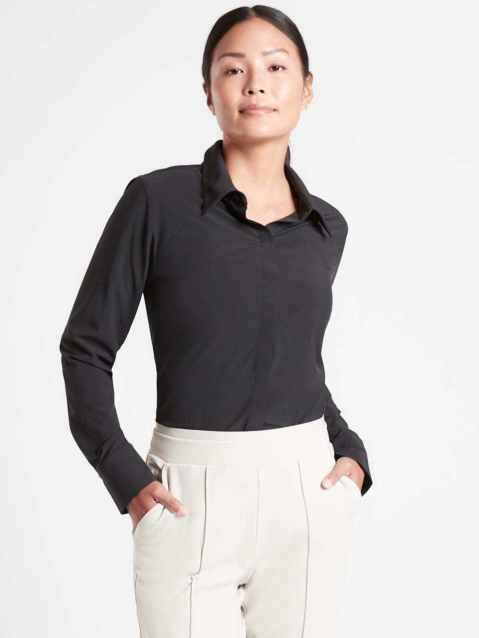 <p>This <span>Athleta River North Bodysuit</span> ($77, originally $109) is the perfect gift for the golf<br> pro in your life.</p>
