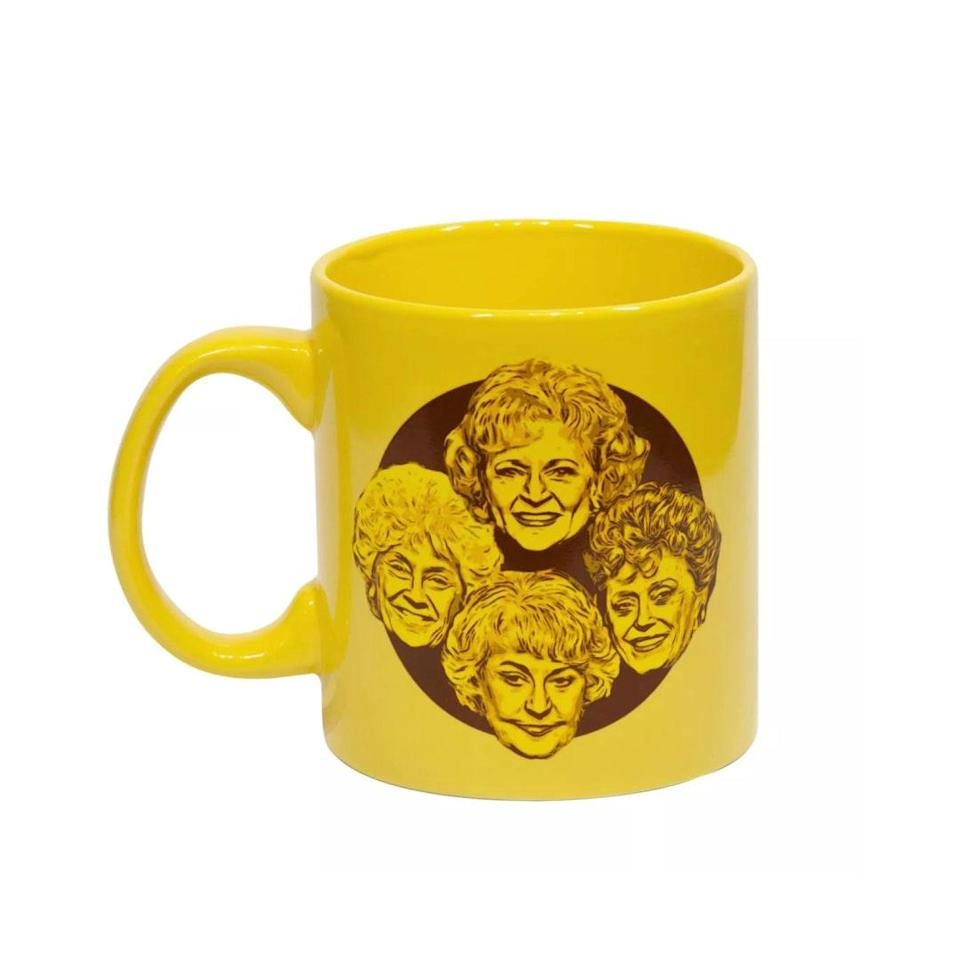 "Add some pep to a bleak morning with this sunshine-y mug, which reminds your favorite coffee drinker: <em>Stay Golden</em>. $20, Target. <a href=""https://www.target.com/p/just-funky-golden-girls-stay-golden-20oz-coffee-mug/-/A-75519548"" rel=""nofollow noopener"" target=""_blank"" data-ylk=""slk:Get it now!"" class=""link rapid-noclick-resp"">Get it now!</a>"