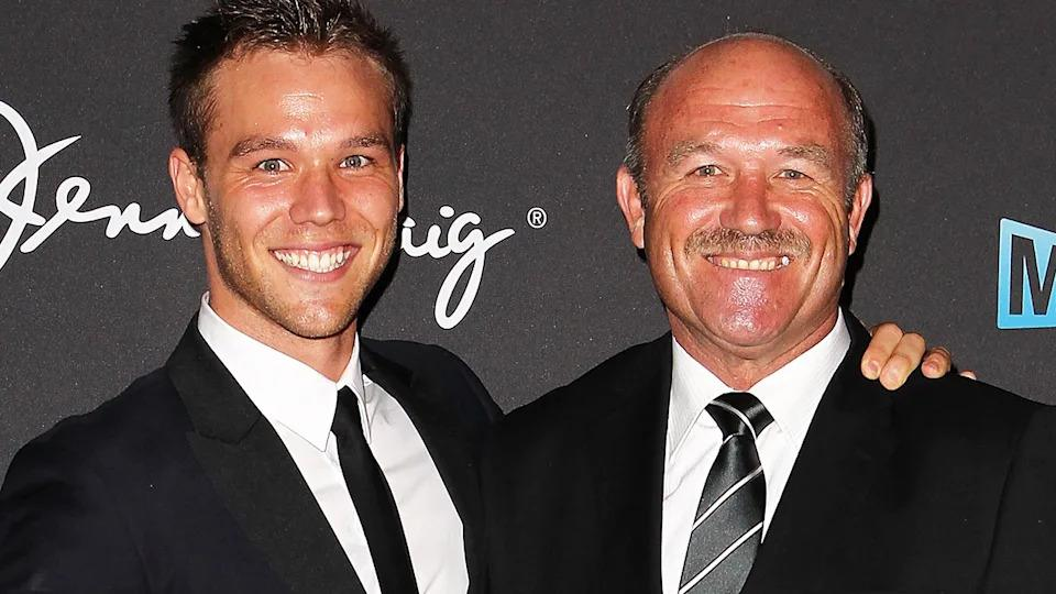 Lincoln and Wally Lewis are pictured together here at the 2012 Logie Awards.