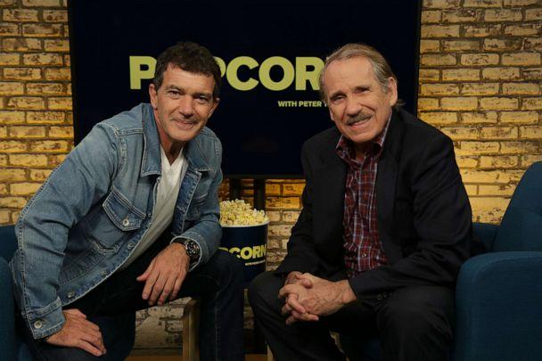 PHOTO: Antonio Banderas appears on 'Popcorn with Peter Travers' at ABC News studios, Sept.27, 2019, in New York. (Angela Williams/ABC News)