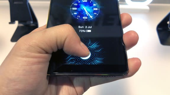 Vivo showcases phone with in-display fingerprint sensor at CES 2018