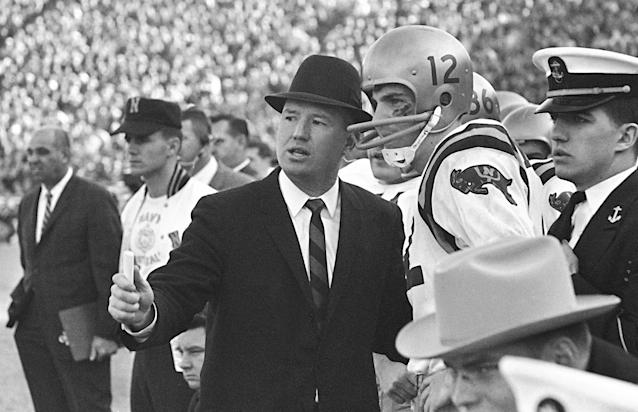 <p>Wayne Hardin (1926-2017): Hall of Fame football coach at Navy and Temple. </p>