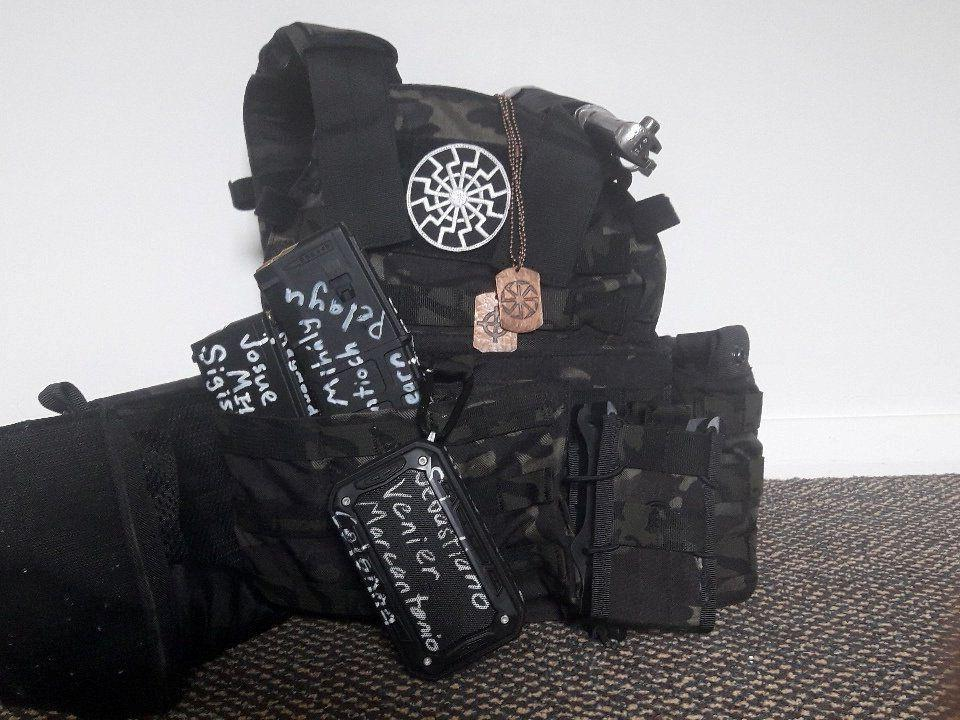 An bulletproof vest and protection gear is seen in this undated photo posted on twitter on March 12, 2019 by the apparent gunman who attacked a mosque in Christchurch, New Zealand. Photo: Twitter/via Reuters)