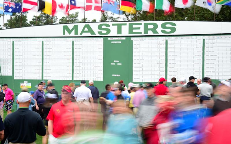 The Masters 2017 leaderboard - 2017 Getty Images