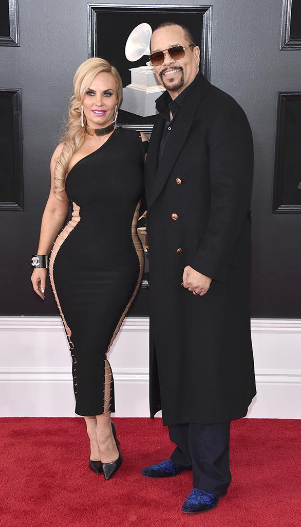 <p>Coco Austin and Ice-T attend the 60th Annual Grammy Awards at Madison Square Garden in New York on Jan. 28, 2018. (Photo: John Shearer/Getty Images) </p>