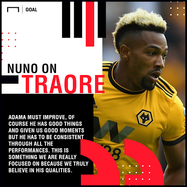 The 22-year-old has only scored once since his big-money move to Wolves and his boss has demanded an improvement