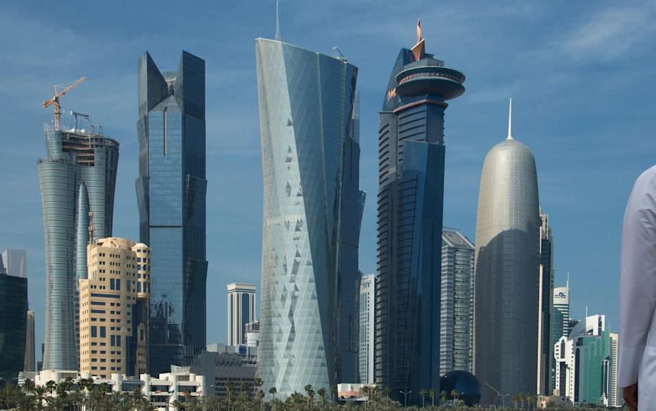 View of skyscrapers of central Doha - Cultura