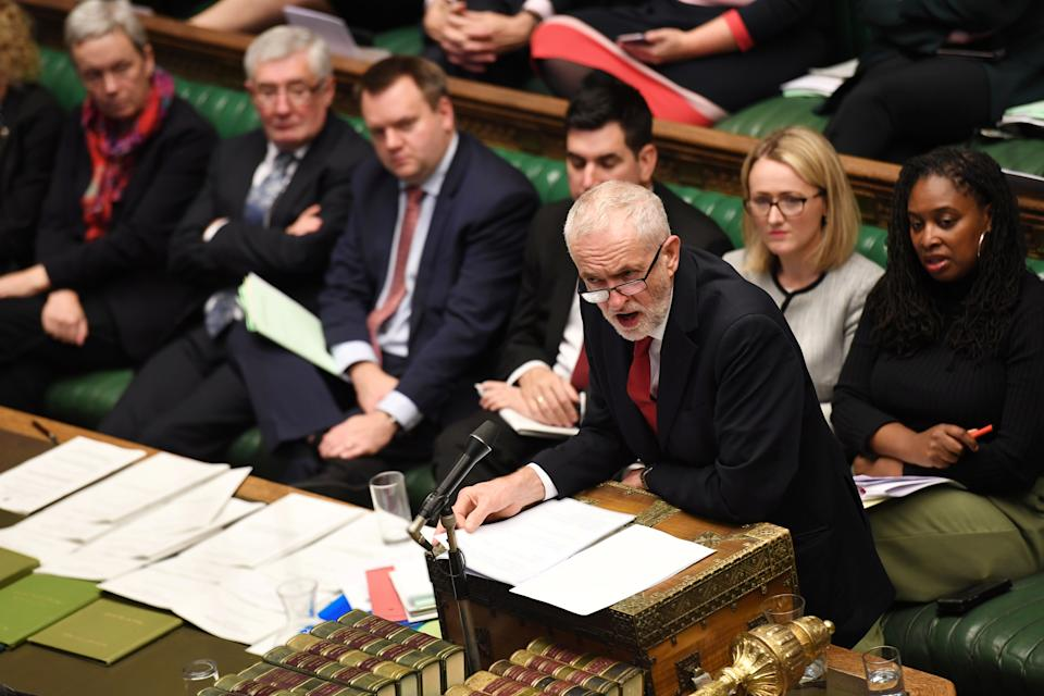 Britain's opposition Labour Party Leader Jeremy Corbyn is seen at the House of Commons in London, Britain October 22, 2019. ©UK Parliament/Jessica Taylor/Handout via REUTERS ATTENTION EDITORS - THIS IMAGE WAS PROVIDED BY A THIRD PARTY