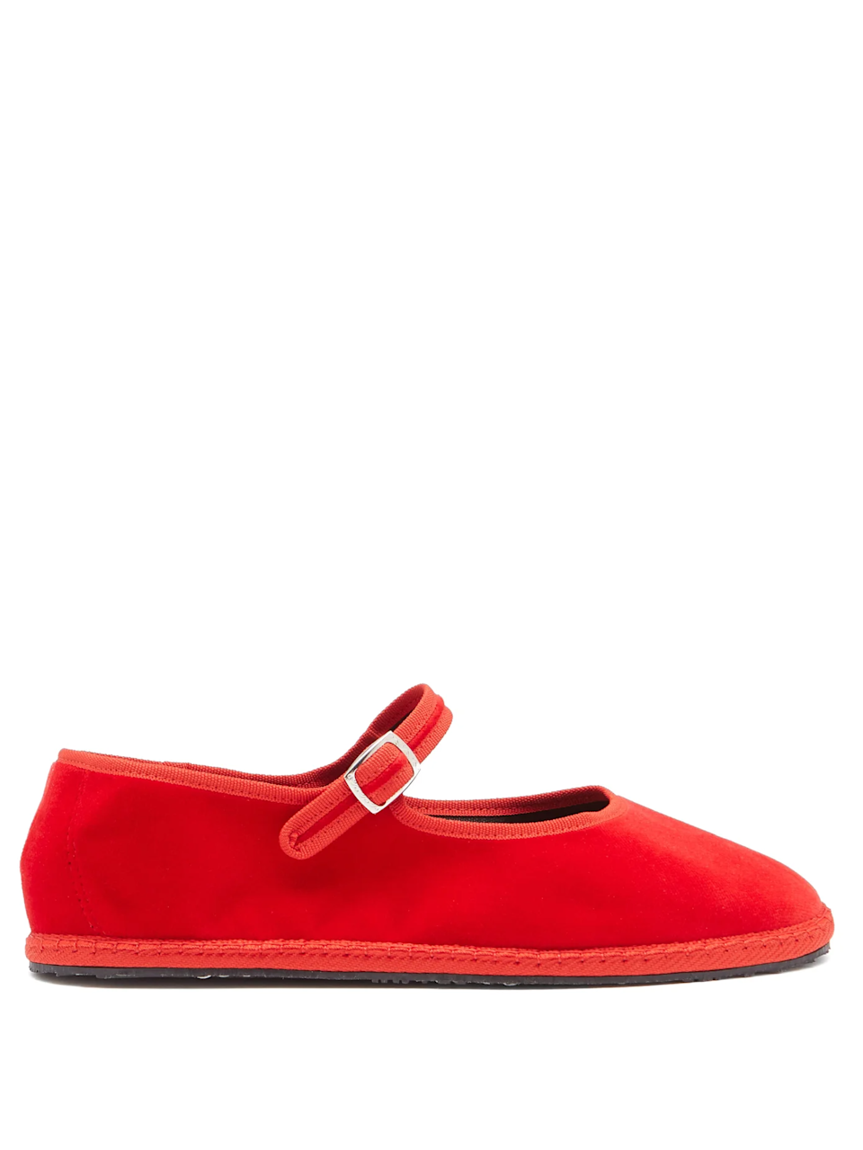 "<br><br><strong>Vibi Venezia</strong> Mary-Jane Velvet Furlane Flats, $, available at <a href=""https://go.skimresources.com/?id=30283X879131&url=https%3A%2F%2Fwww.matchesfashion.com%2Fus%2Fproducts%2FVibi-Venezia-Mary-Jane-velvet-furlane-flats-1399063"" rel=""nofollow noopener"" target=""_blank"" data-ylk=""slk:MatchesFashion"" class=""link rapid-noclick-resp"">MatchesFashion</a>"