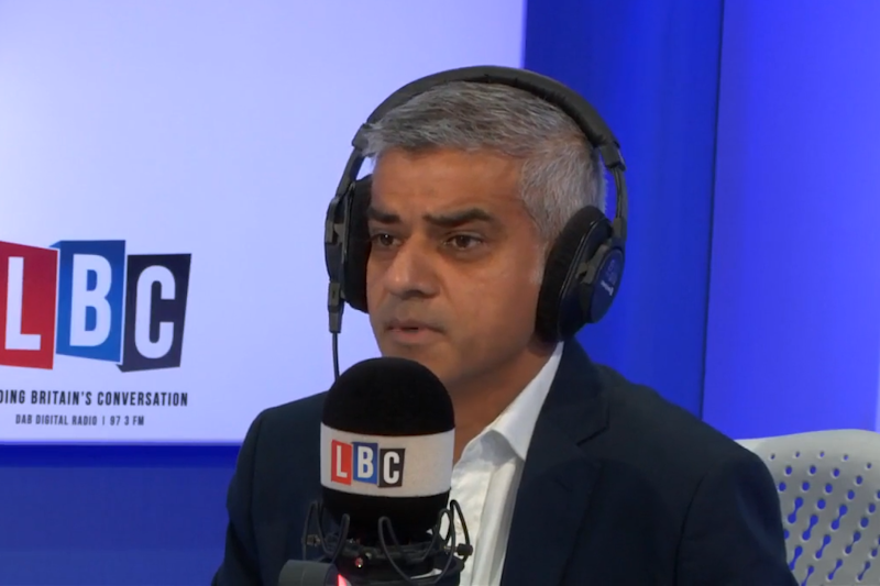 Sadiq Khan: The Mayor of London said the talks been TfL and Uber have so far been constructive (LBC)