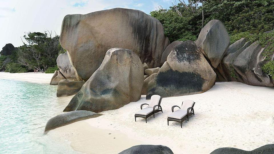 """<p>This design by Richard Frinier, the man sometimes dubbed 'the king of outdoor furniture', has a sensual, curved quality. Its swooping armrests bring to mind ripples on the ocean, which is the kind of view you can daydream of while you relax in your back garden. £3,180, <a href=""""https://leisureplan.co.uk/product/dedon-tango-sunloungers"""" rel=""""nofollow noopener"""" target=""""_blank"""" data-ylk=""""slk:leisureplan.co.uk"""" class=""""link rapid-noclick-resp"""">leisureplan.co.uk</a></p>"""