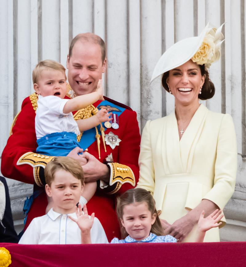 Prince William and Kate Middleton pictured with their three kids Prince Louis, Prince George and Princess Charlotte