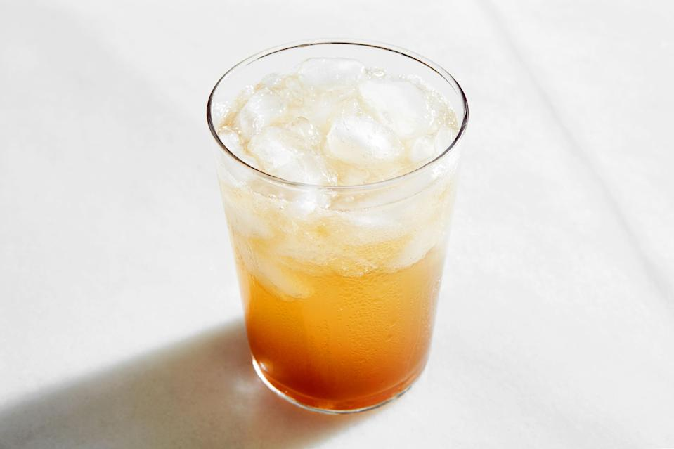 "If you've got tamarind on hand, this refreshing sipper is a must: the perfect combination of tart-sweet and gently spicy. Serve it chilled and stir it well before drinking. Whether or not you're doing <a href=""https://www.epicurious.com/ingredients/nonalcoholic-spirits-dry-january-article?mbid=synd_yahoo_rss"" rel=""nofollow noopener"" target=""_blank"" data-ylk=""slk:Dry January"" class=""link rapid-noclick-resp"">Dry January</a>, it's a recipe worth trying. <a href=""https://www.epicurious.com/recipes/food/views/ginger-and-tamarind-refresher-nik-sharma?mbid=synd_yahoo_rss"" rel=""nofollow noopener"" target=""_blank"" data-ylk=""slk:See recipe."" class=""link rapid-noclick-resp"">See recipe.</a>"