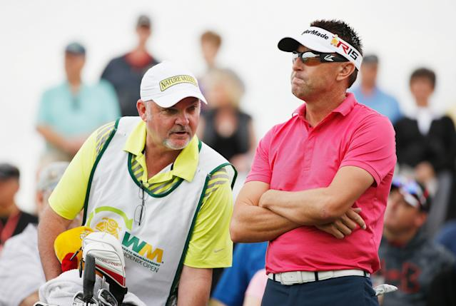 "<h1 class=""title"">Waste Management Phoenix Open - Round One</h1> <div class=""caption""> One of Allenby's former caddies, Mick Middlemo (left), walked off the course in the middle of a round at the 2015 RBC Canadian Open. </div> <cite class=""credit"">Scott Halleran</cite>"
