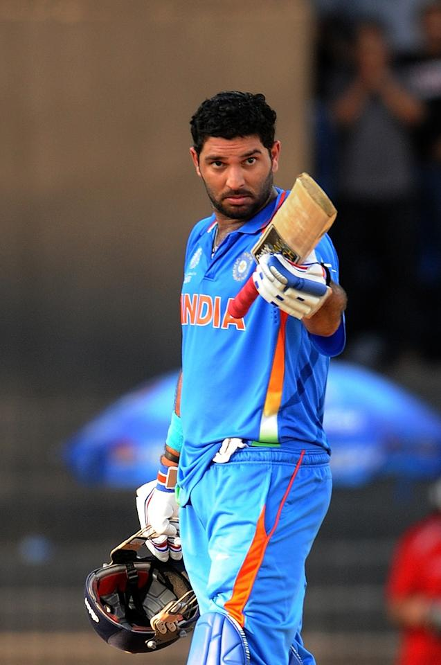 India vs West Indies at Chennai on 20 March 2011: Yuvraj Singh's 123-ball 113 and his 122-run partnership for the third wicket with Virat Kohli (59) helped India score 268. Ravi Rampaul with figures of 10-0-51-5 was the most successful of West Indies' bowlers.  Devon Smith (81) was doing a good job of anchoring the run chase, but when Zaheer Khan dismissed him with the Windies's score at 154 in the 31st over, the match was still wide open. But, then a spectacular collapse saw West Indies being bundled out for 188 in 43 overs. Zaheer (3-26) was the most successful bowler for India, while Yuvraj and R Ashwin took two wickets each.
