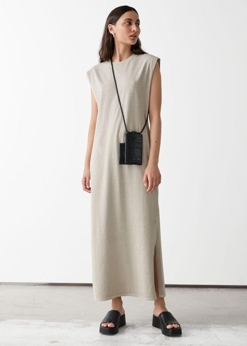 <p>It doesn't get more effortless than this <span>&amp; Other Stories Jersey Tank Midi Dress</span> ($59). It's literally designed to become your everyday uniform, with its loose silhouette and soft-looking fabric.</p>
