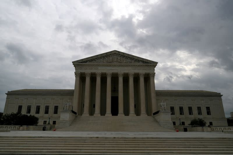 FILE PHOTO: FILE PHOTO: Storm clouds roll over the U.S. Supreme Court