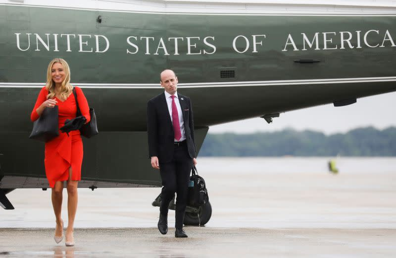 FILE PHOTO: U.S. President Donald Trump departs for travel to campaign rally in Tulsa from Washington
