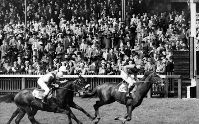 <span>Crepello ridden by Piggott in the 1957 2,000 Guineas</span> <span>Credit: Getty Images </span>